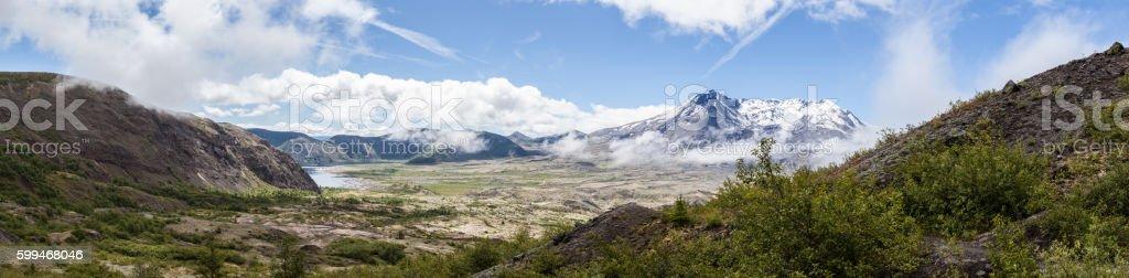 Mt St Helens Panorama stock photo