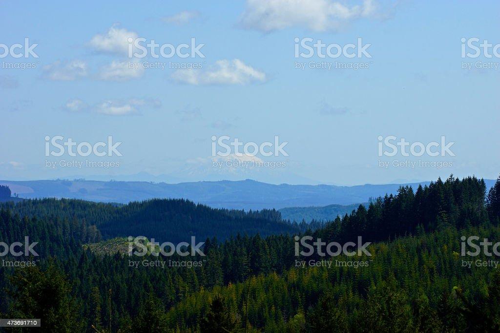 Mt. St. Helens Summit Cloud stock photo