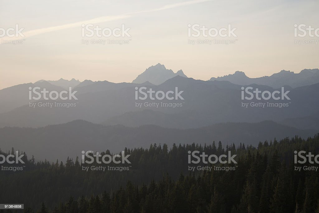 Mt. Stuart and Enchantments royalty-free stock photo
