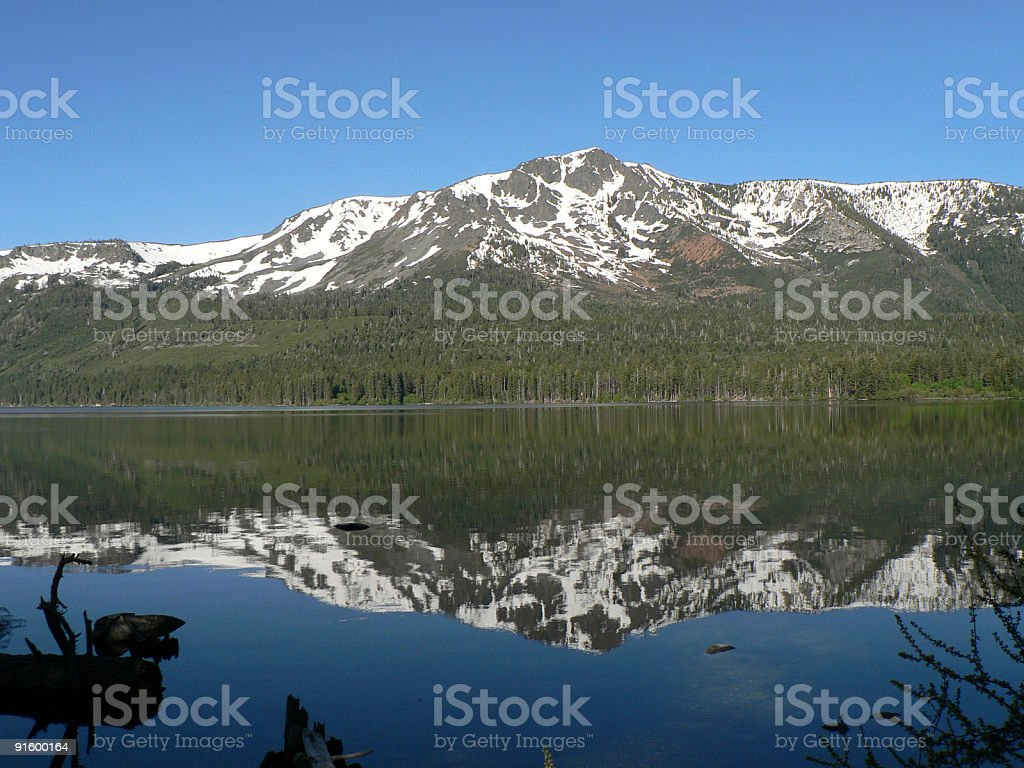 Mt. Tallac reflections stock photo