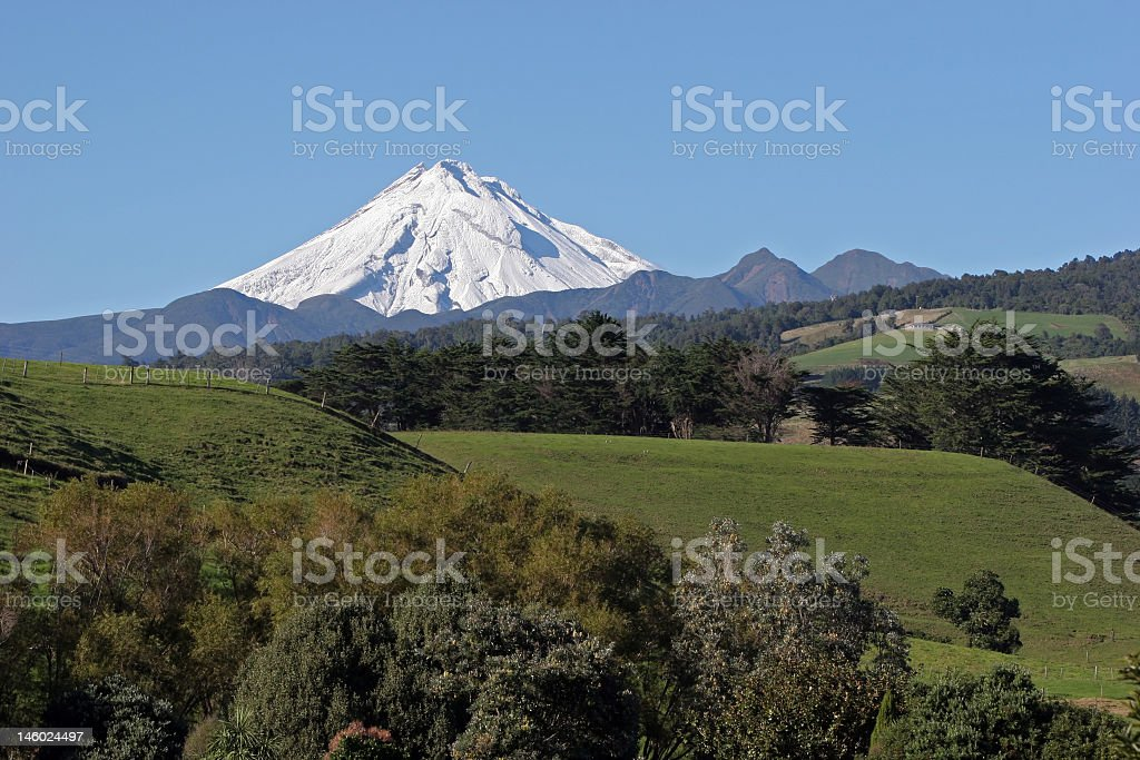 Mt Taranaki stock photo