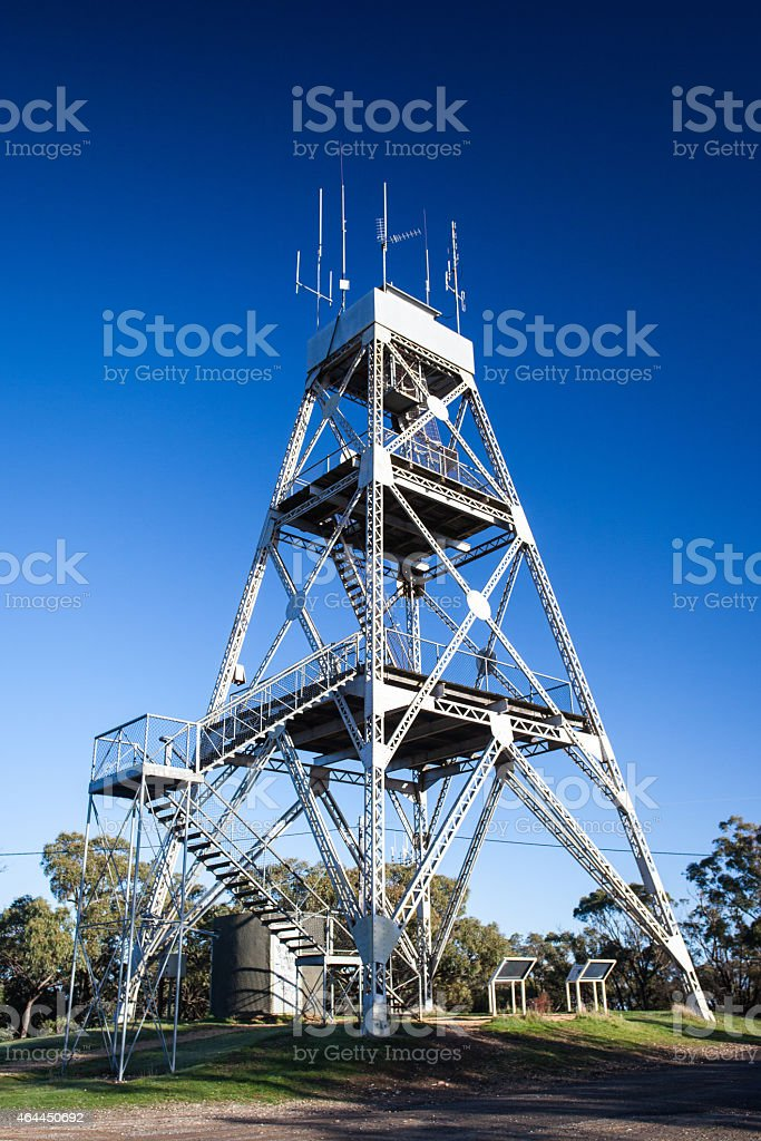 Mt Tarrengower Lookout Tower stock photo