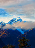 Mt Tasman In New Zealand's Southern Alps
