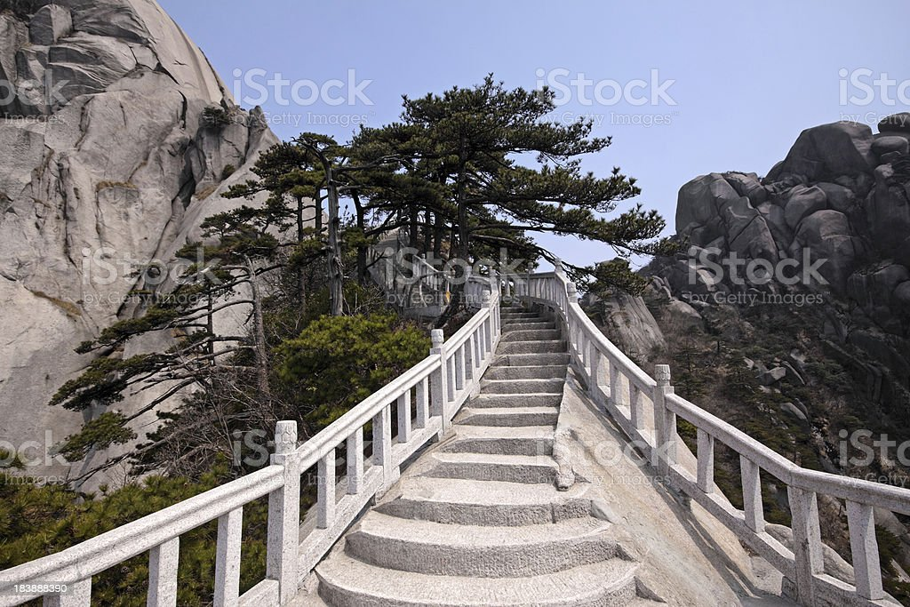 Mt. Tianzhu Path stock photo