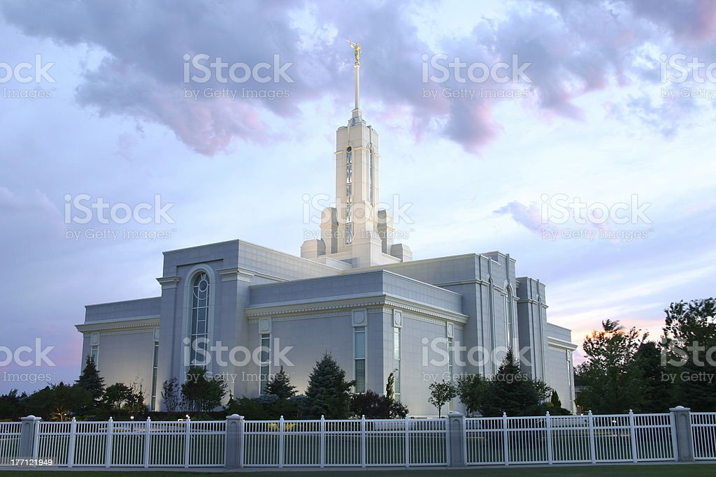 Mt. Timpanogos Temple royalty-free stock photo