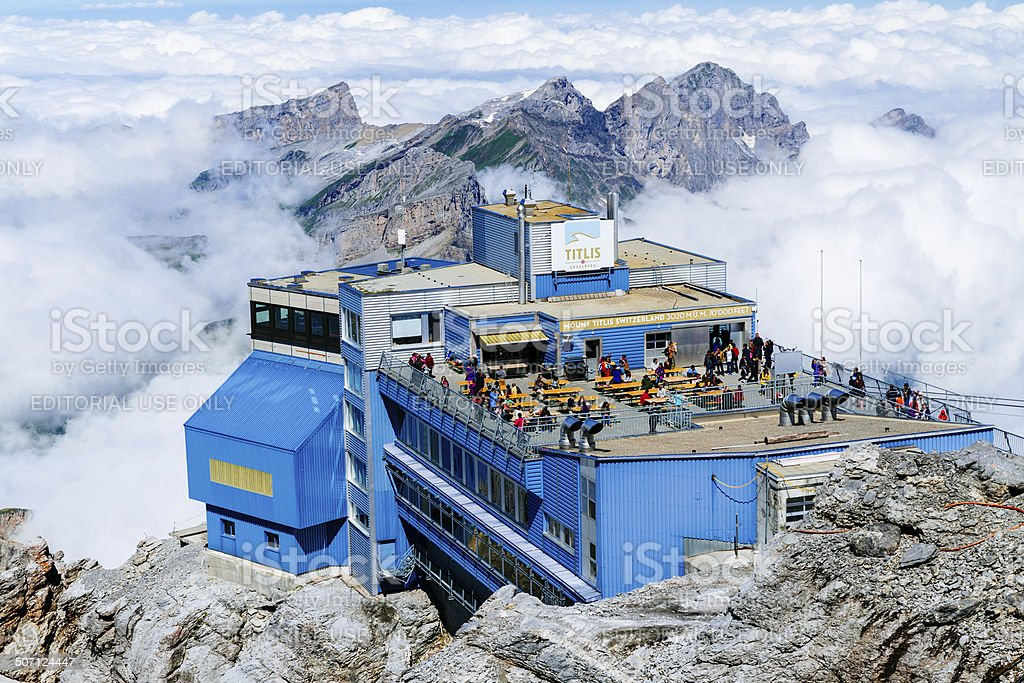 Mt. Titlis summit station Switzerland stock photo
