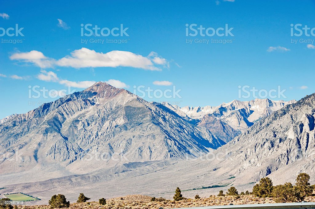 Mt Tom Climbers Special Location Sierra Nevada Mountains stock photo
