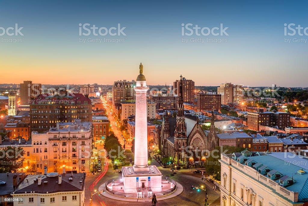 Mt. Vernon, Baltimore, Maryland stock photo