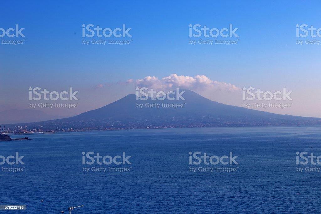 Mt. Vesuvius-Gulf Of Naples, Italy stock photo