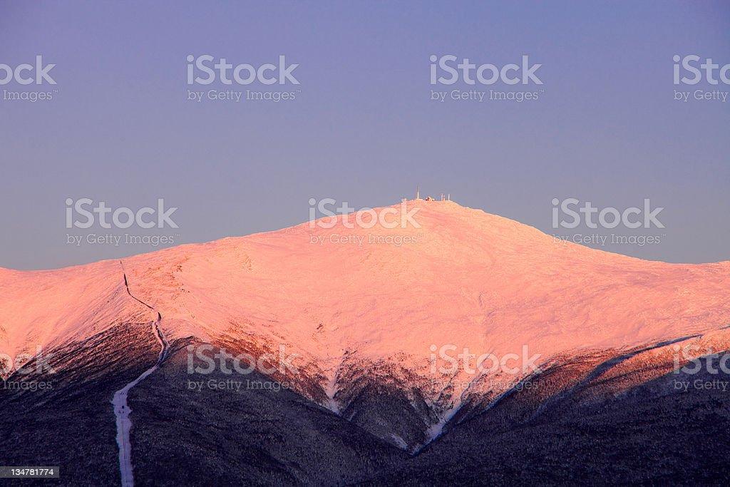 Mt Washington Alpine glow stock photo