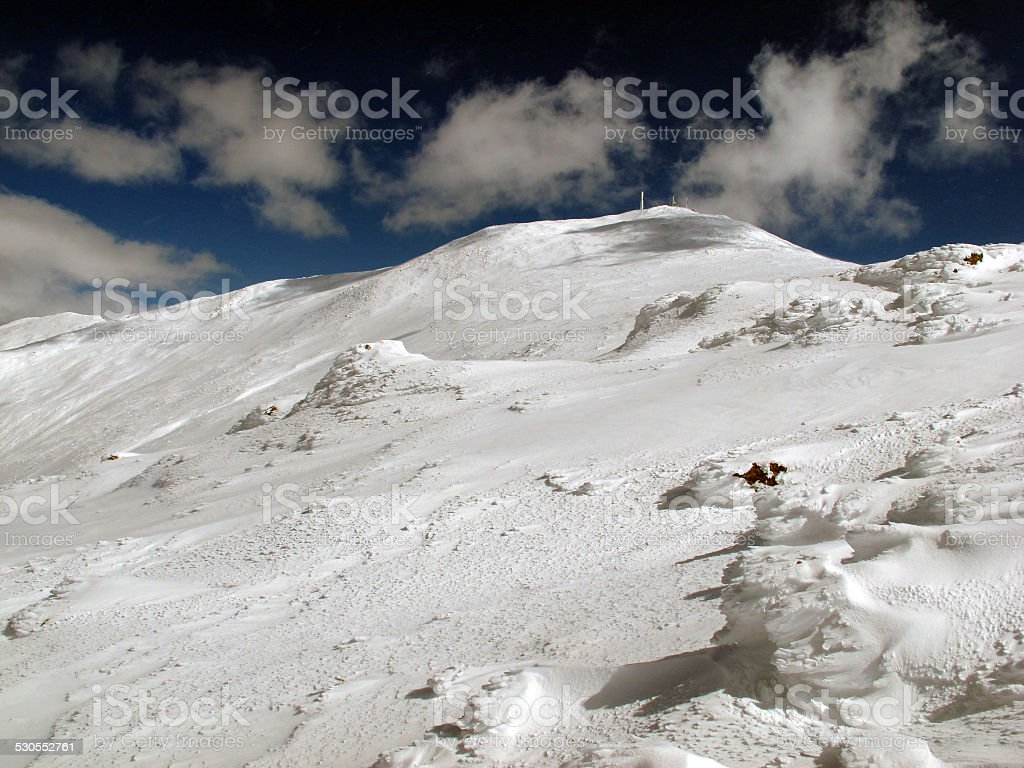 Mt Washington from Lakes of the Clouds stock photo