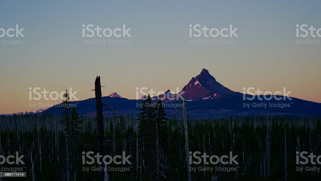 Mt. Washington Purple Dawn stock photo