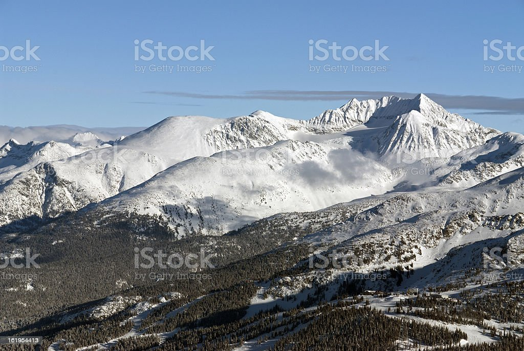 Mt. Weart in the Coast Mountains royalty-free stock photo
