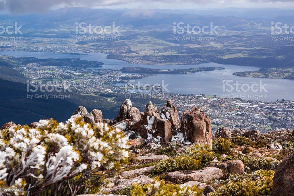 Mt Wellington stock photo