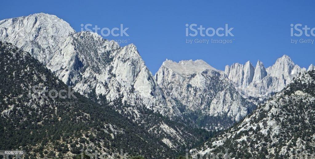 Mt. Whitney Blue Sky stock photo