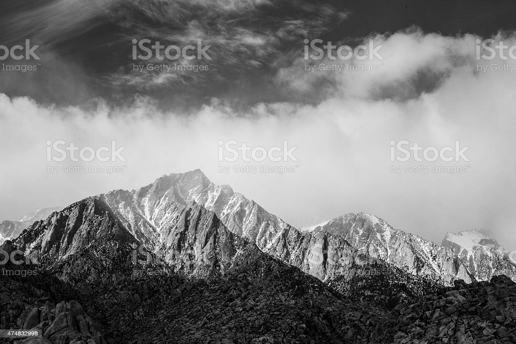 Mt. Whitney B&W stock photo