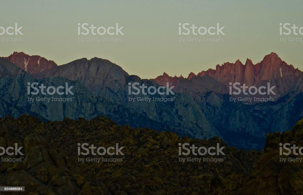 Mt. Whitney Change stock photo