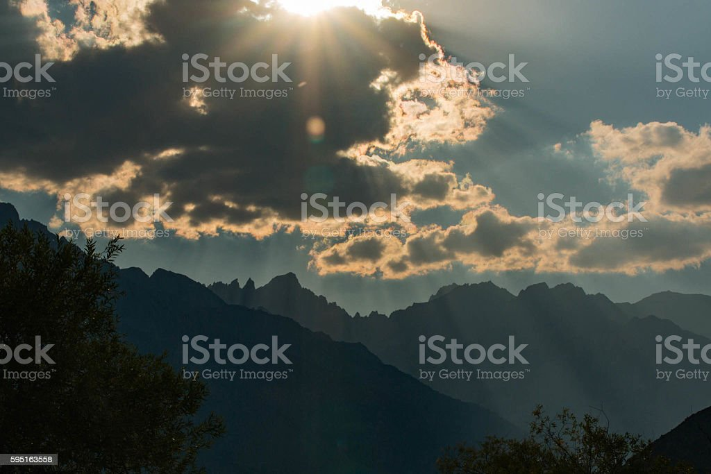 Mt Whitney Clouds stock photo