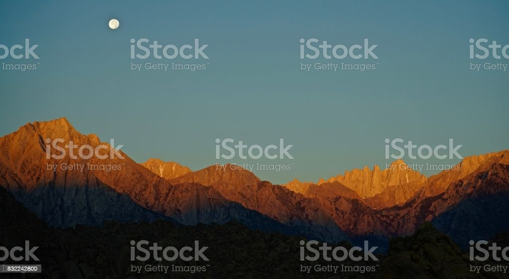 Mt. Whitney Orange stock photo