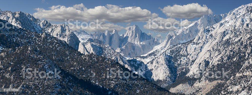 Mt. Whitney Panorama stock photo