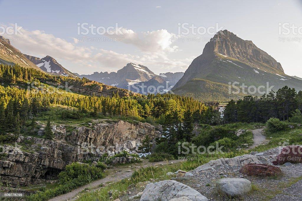 Mt. Wilbur and Mountain Stream stock photo