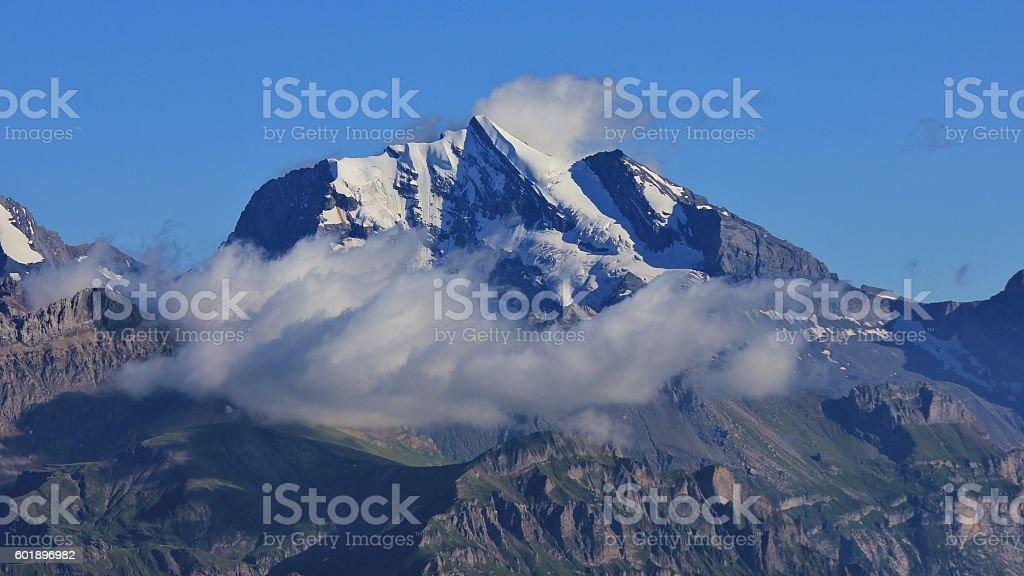 Mt Wildstrubel in summer stock photo