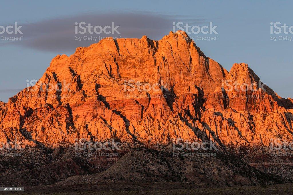 Mt Wilson Nevada Dawn Light stock photo