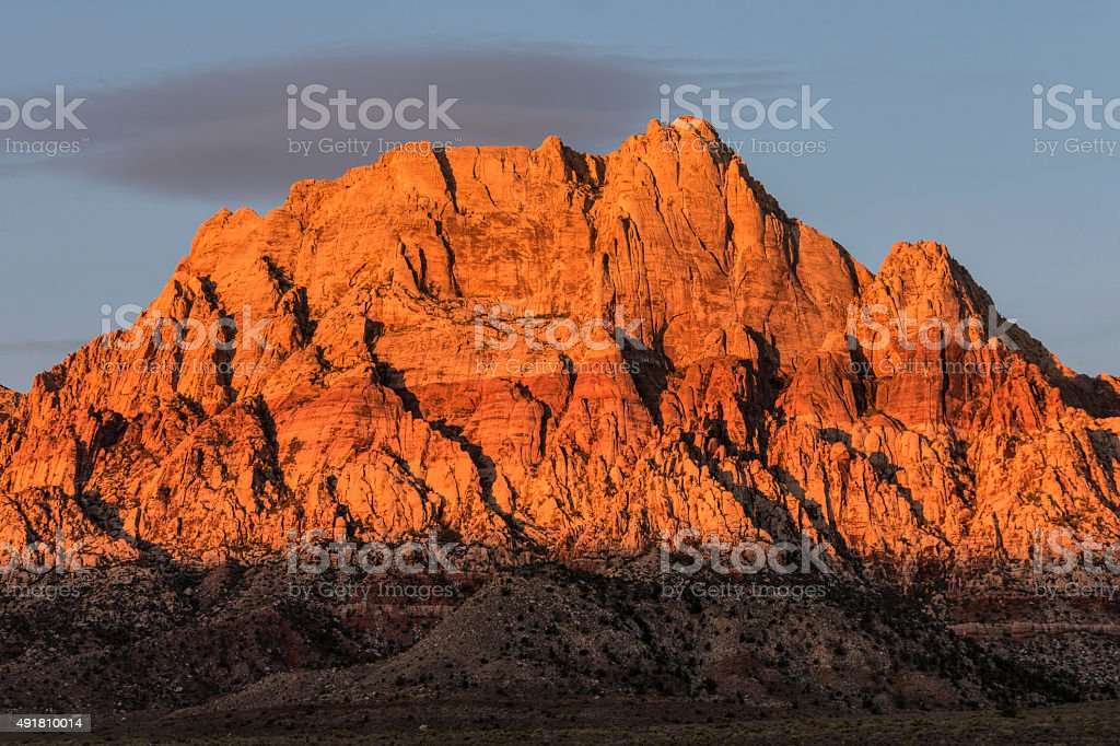 Mt Wilson Nevada Dawn Light stock photo