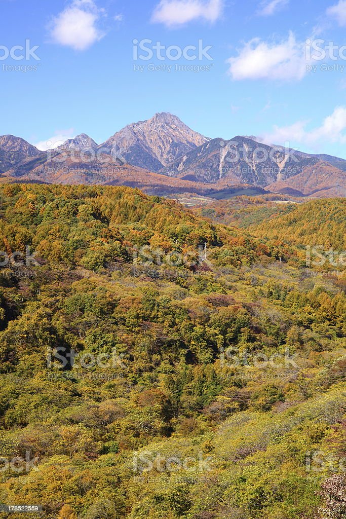 Mt. Yatsugatake in autumn royalty-free stock photo