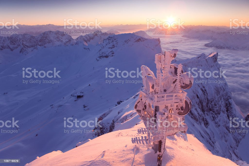 Mt. Zugspitze royalty-free stock photo
