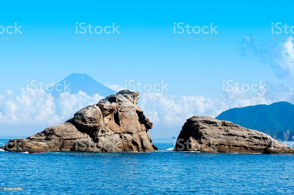 Mt.Fuji e Mar foto de stock royalty-free
