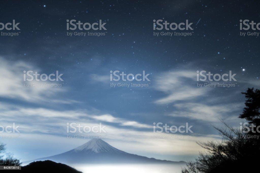 Mt.Fuji  at Tenkachaya,Yamanashi,tourism of Japan stock photo