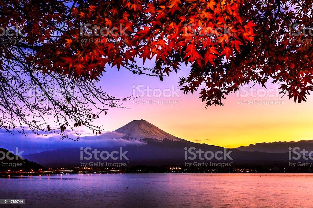 Mt.Fuji sunset stock photo