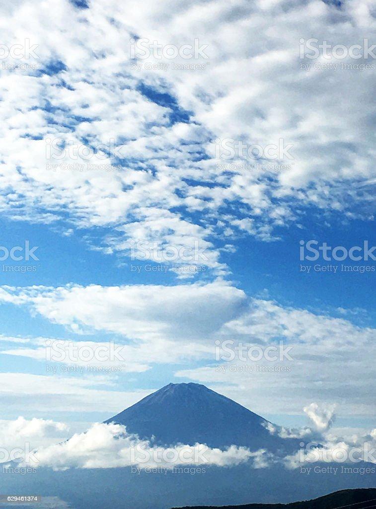 Mt.Fuji with cloud stock photo