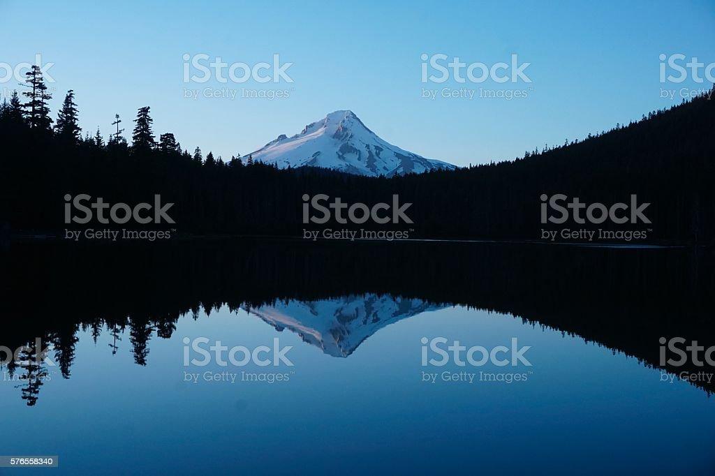 Mt.Hood via Frog Lake Oregon stock photo