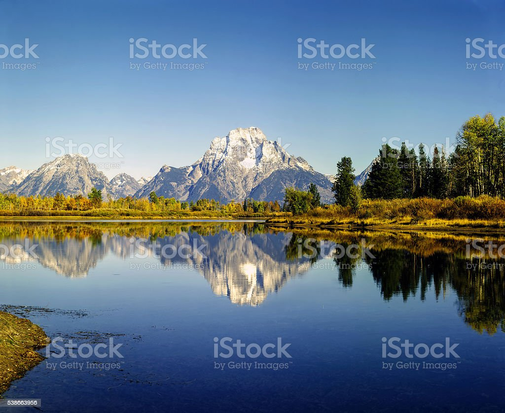 Mt.Moran stock photo