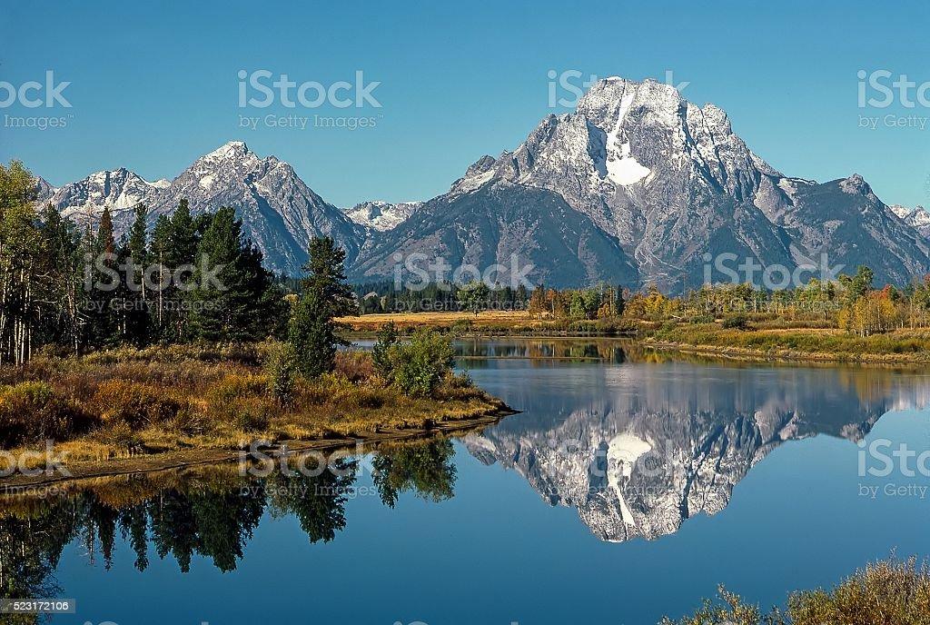 Mt.Moran, Wyoming stock photo