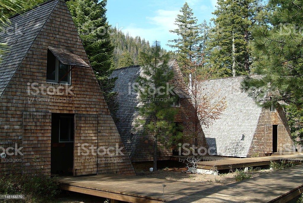 Mtn cabin retreat royalty-free stock photo