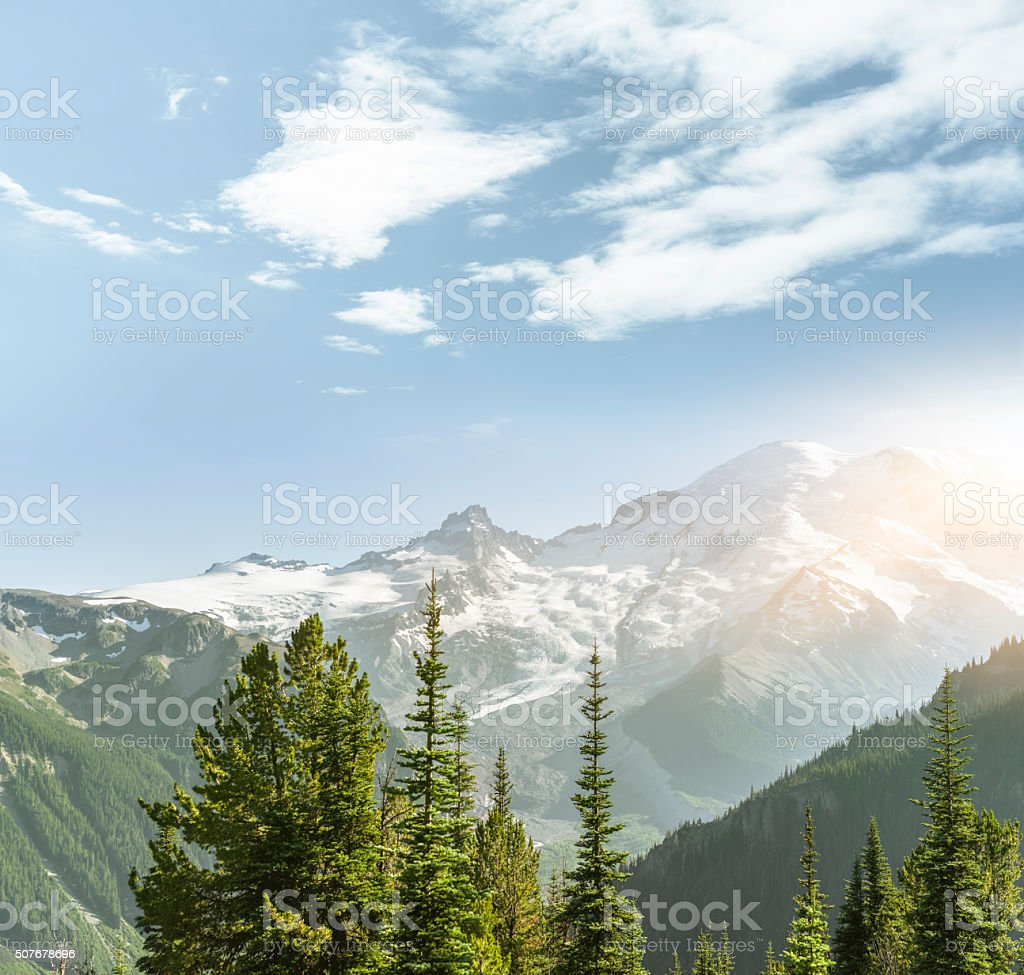 MT.Rainier stock photo