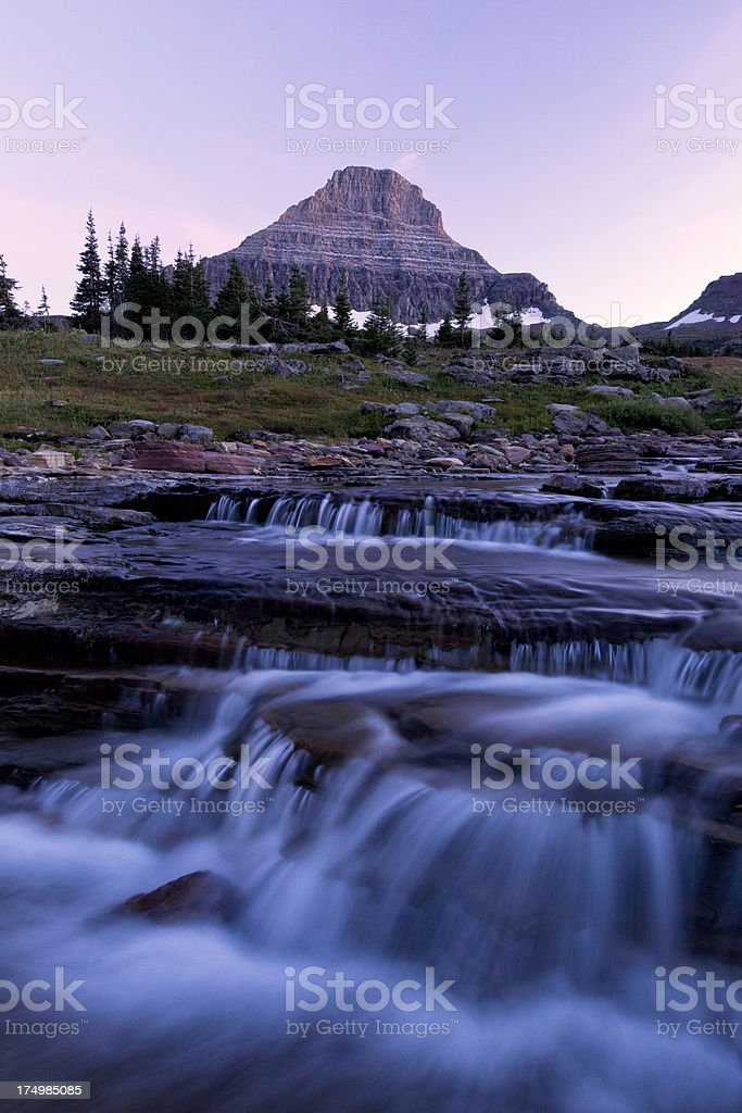 Mt.Reynolds on Logan's Pass royalty-free stock photo
