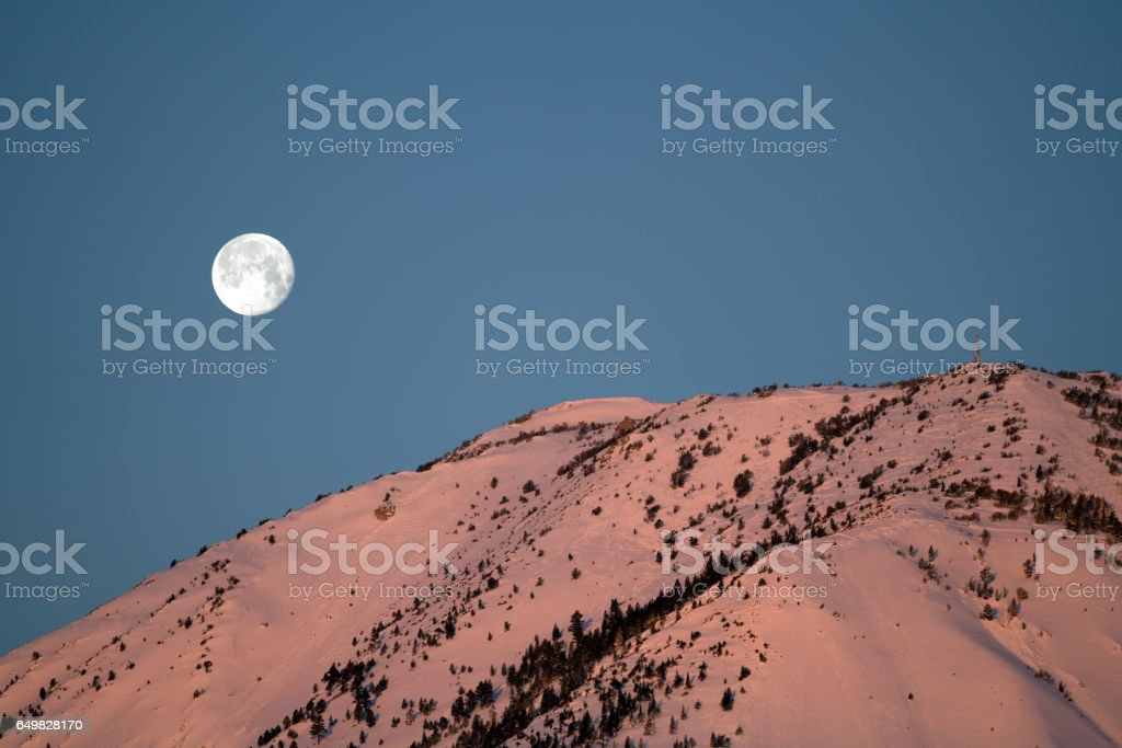 Mt.Rose Experiences the Most Snow in the Nation stock photo