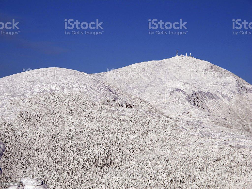 Mts. Eisenhower, Franklin, Monroe, and Washington, from Mt. Pierce stock photo