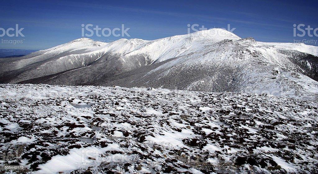 Mts Jefferson, Clay, Washington. Monroe, and Boott Spur stock photo