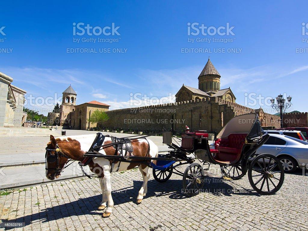Mtskheta taxi stock photo