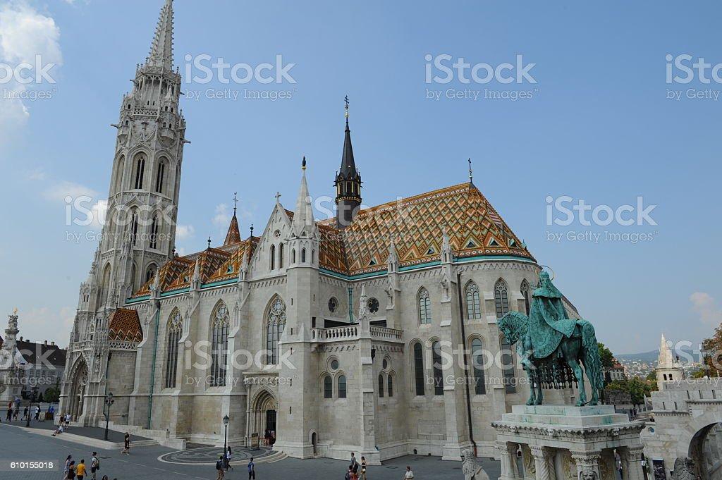 Mátyás templom stock photo