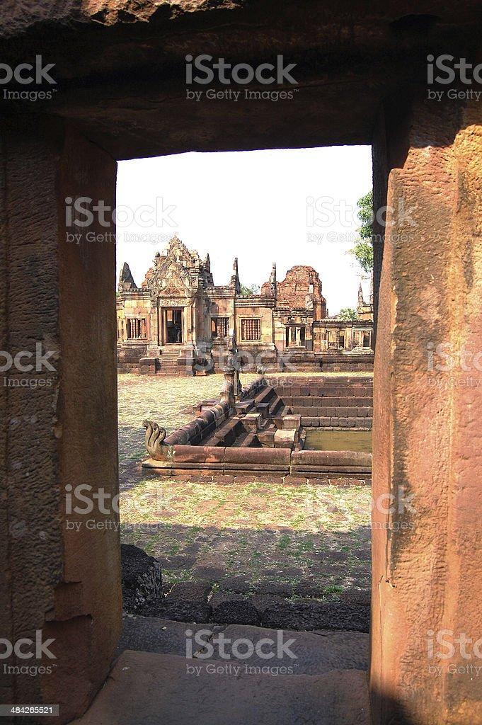 Muang Tum Sanctuary Ruin of Buriram Thailand stock photo