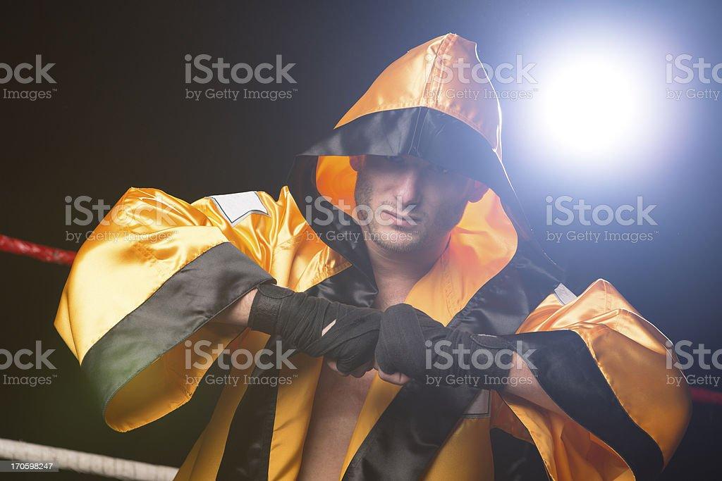 Muay Thai Boxer royalty-free stock photo