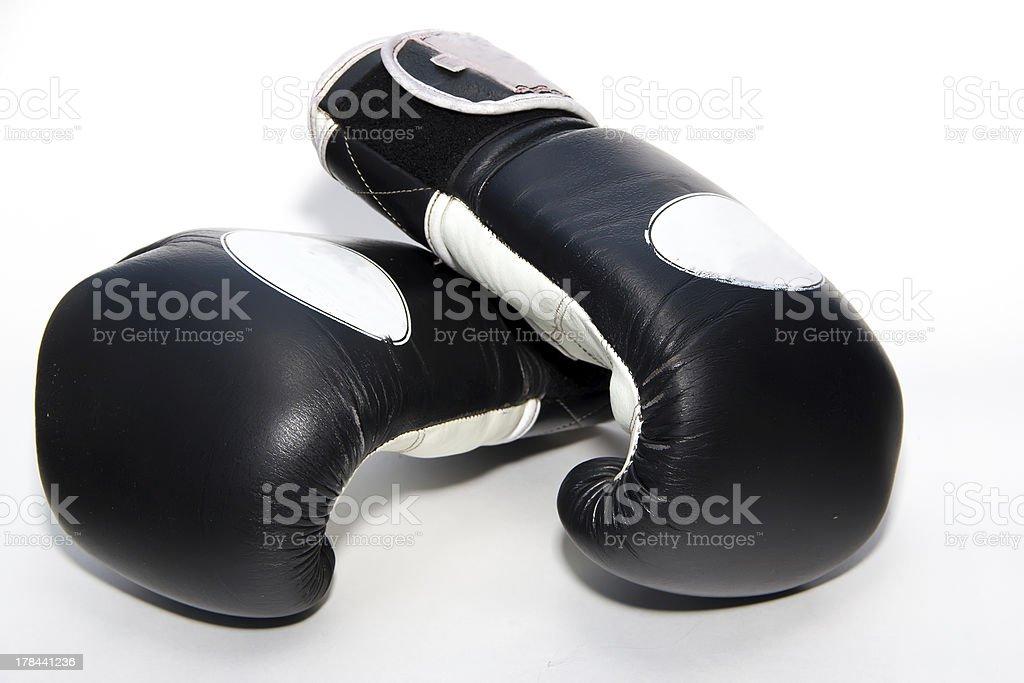 Muay thai boxing gloves stock photo