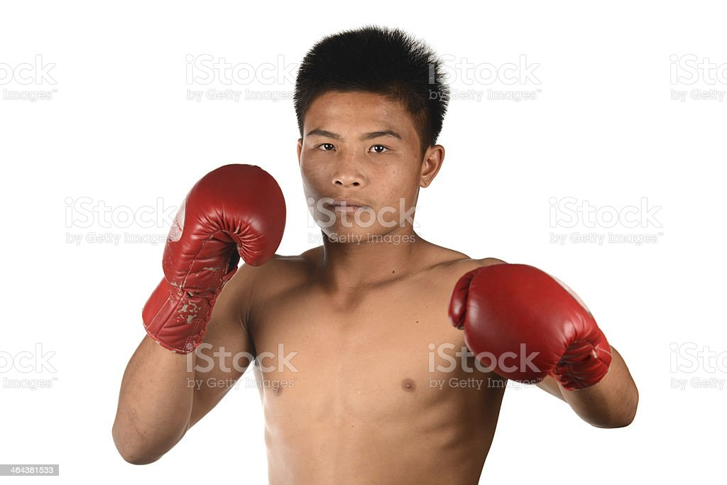 Muay Thai Boxing Male Boxer royalty-free stock photo