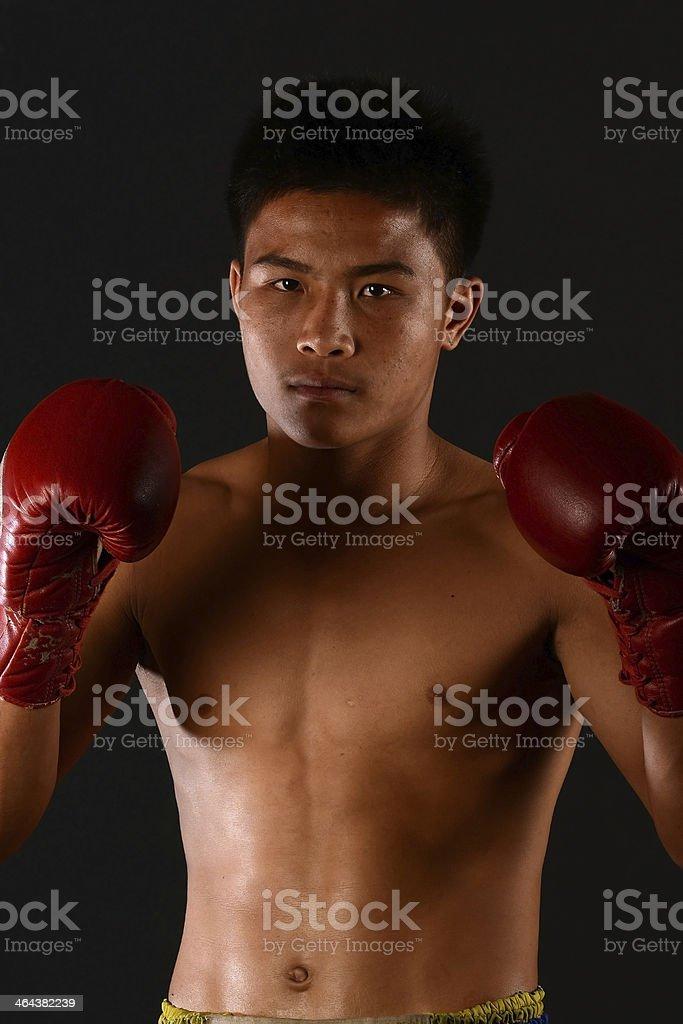 Muay Thai Boxing Male Boxer royalty-free stock photo
